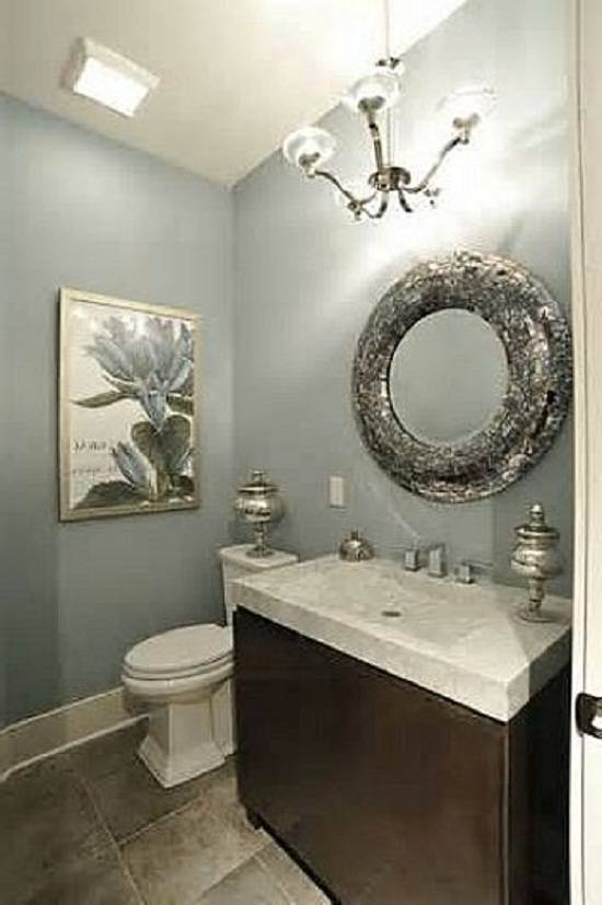 Contemporary Bathroom Design With Decorative Wall Mirror, Modern Pertaining To Contemporary Bathroom Wall Mirrors (#9 of 15)