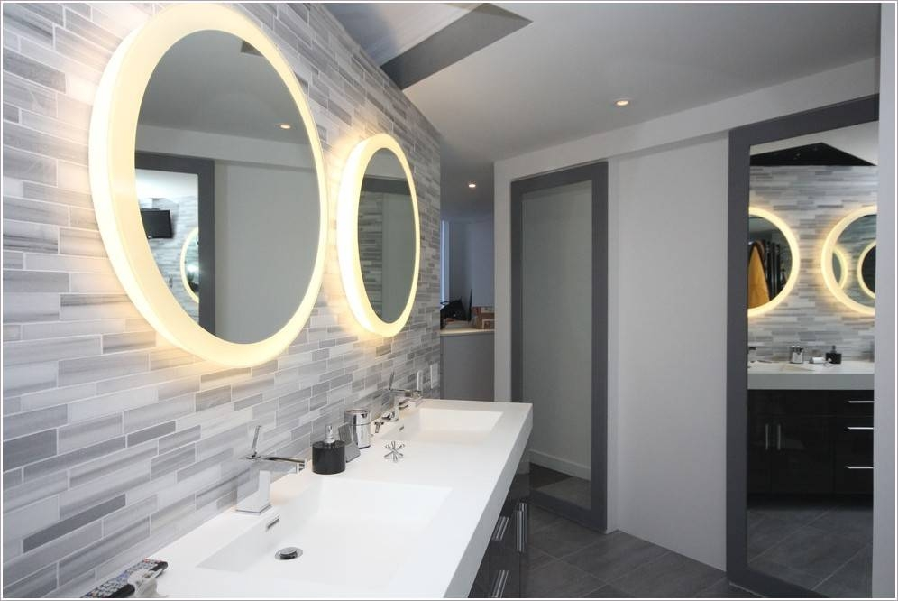 Contemporary Lighted Bathroom Wall Mirror – Home Design Ideas Throughout Lighted Bathroom Wall Mirrors (#6 of 15)