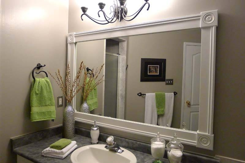 Cool 60+ Wall Sconces Above Bathroom Mirror Decorating Inspiration Inside Frame Bathroom Wall Mirrors (#7 of 15)