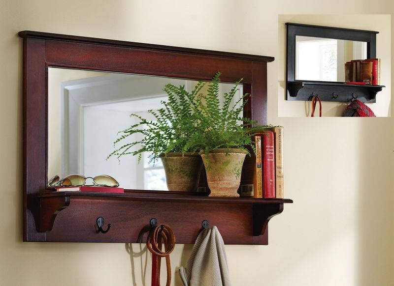 Cool Entryway Mirror With Hooks Inspiration — Wedgelog Design Within Wall Mirror With Coat Hooks (#6 of 15)