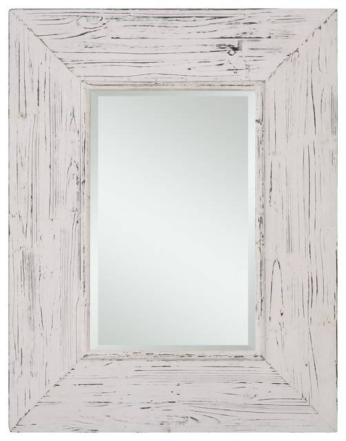 Popular Photo of Distressed White Wall Mirrors