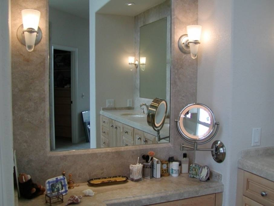 Copper Lighted Makeup Mirror Wall Mounted : Doherty House – Apply For Lighted Vanity Wall Mirrors (#3 of 15)