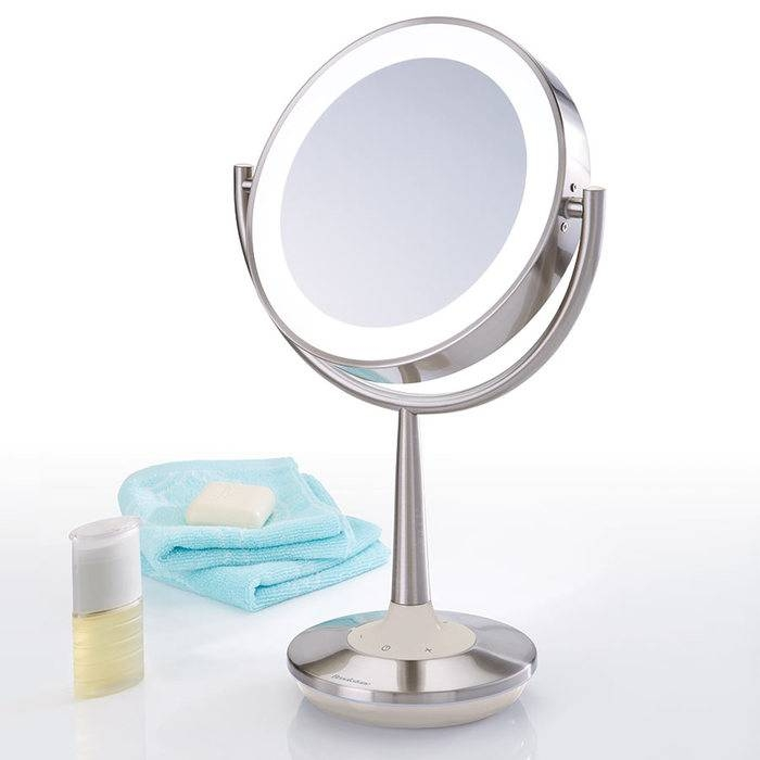 Cordless Makeup Mirror At Brookstone—Buy Now! In Magnified Vanity Mirrors (#7 of 15)