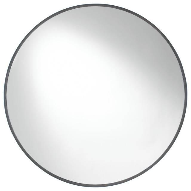 Cordova Round Wall Mirror – Contemporary – Wall Mirrors  Etriggerz Inside Contemporary Black Wall Mirrors (#4 of 15)