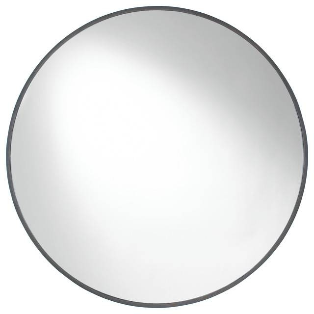 Cordova Round Wall Mirror – Contemporary – Wall Mirrors  Etriggerz With Regard To Black Round Wall Mirrors (#4 of 15)
