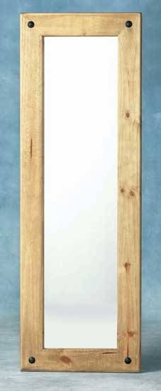 Corona Mexican Pine Long Wall Mirror For Pine Wall Mirrors (#5 of 15)