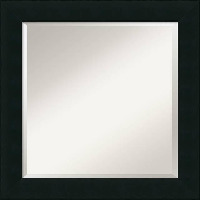 "Corvino Wall Mirror, Square' 25""x25"" – Contemporary – Wall Mirrors Intended For Contemporary Black Wall Mirrors (#5 of 15)"