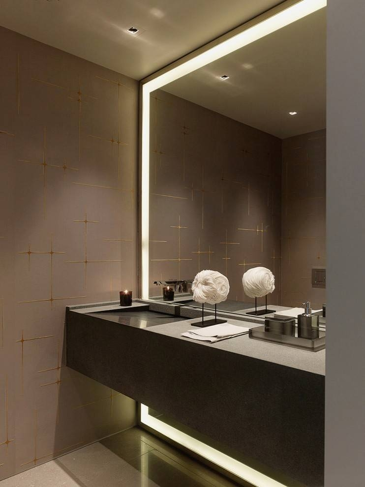 Crafty Design Bathroom Mirror With Lights Built In Vanity Wall For Vanity Mirrors With Built In Lights (View 15 of 15)