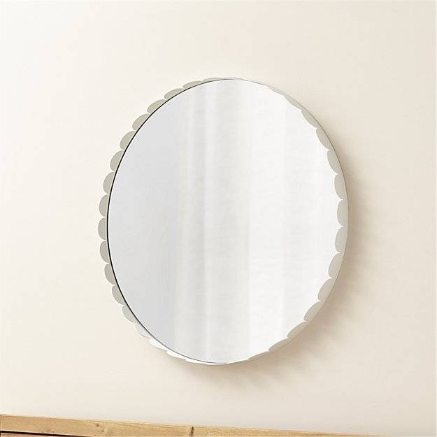 Crate & Barrel Ninna White Round Wall Mirror | Best Vanity Mirrors Throughout White Round Wall Mirrors (#2 of 15)