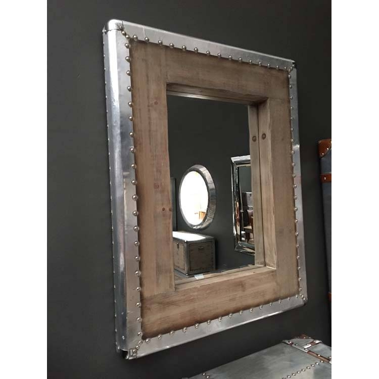 Creative Ideas Industrial Wall Mirror Splendid Design Industrial Intended For Industrial Wall Mirrors (#6 of 15)