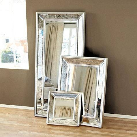 Crystal 38x28 Silver Beveled Wall Mirror – Overstock Within Beveled Wall Mirrors (View 4 of 15)