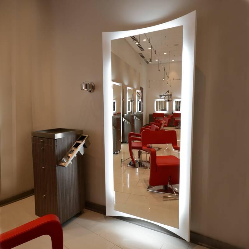 Curve Salon Mirror   Salon Mirror   Salon Furniture Intended For Salon Wall Mirrors (View 3 of 15)