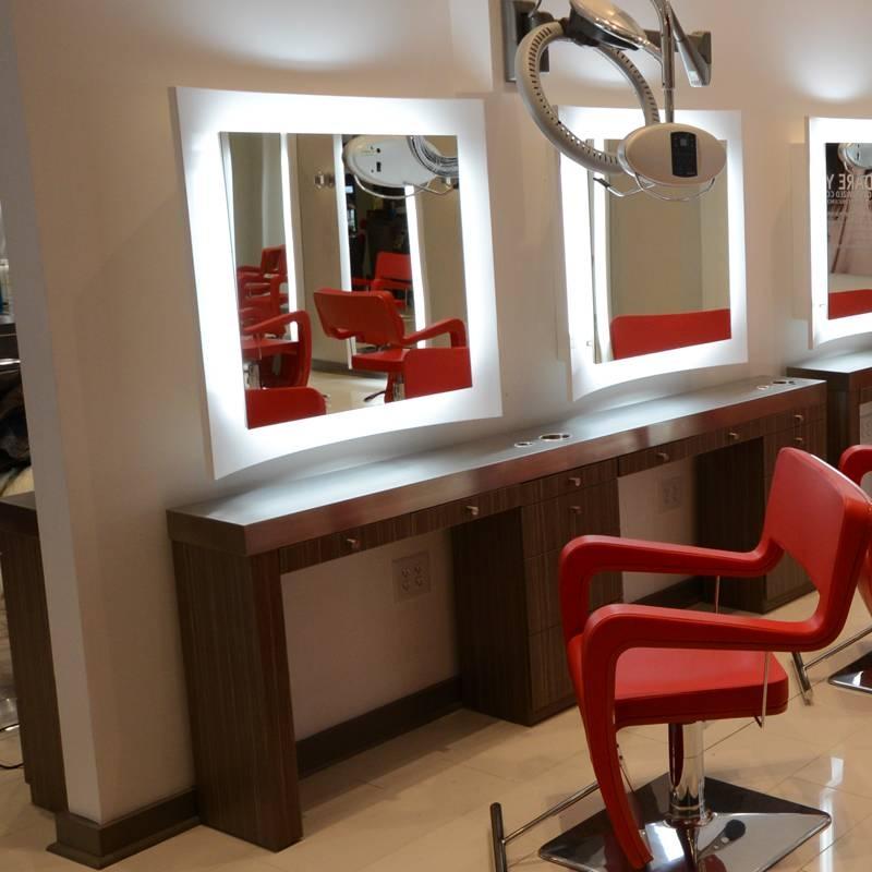 Curve Salon Mirror   Salon Mirror   Salon Furniture Intended For Salon Wall Mirrors (View 2 of 15)