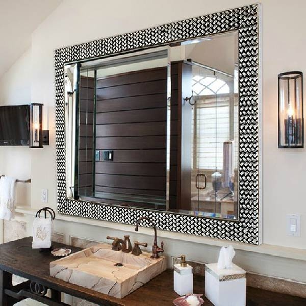 Custom 70+ Silver Framed Bathroom Mirrors Design Inspiration Of In Modern Framed Mirrors (#6 of 15)