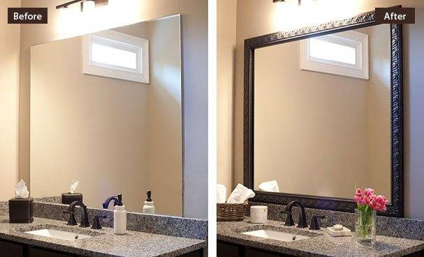 15 collection of frames for bathroom wall mirrors for How to frame mirror in bathroom