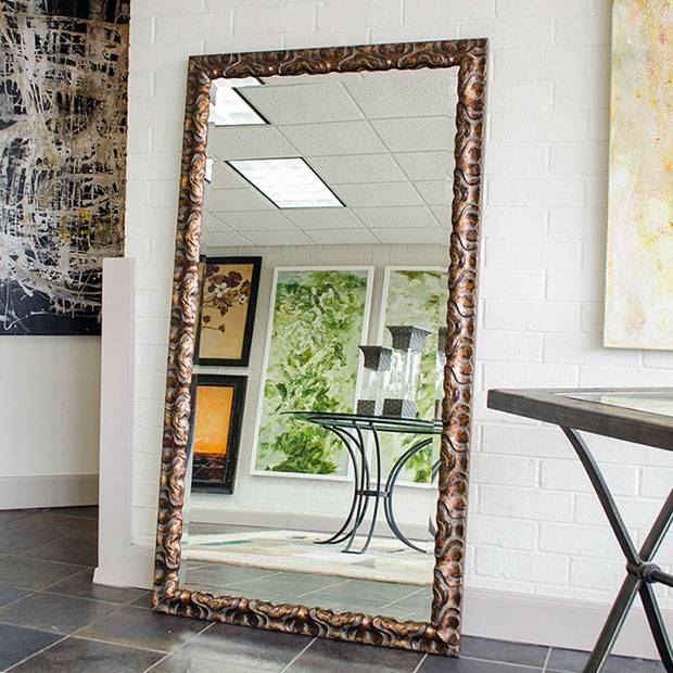 Custom Sized Framed Mirrors, Bathroom Mirrors, Large Decorative In Leaning Wall Mirrors (#8 of 15)