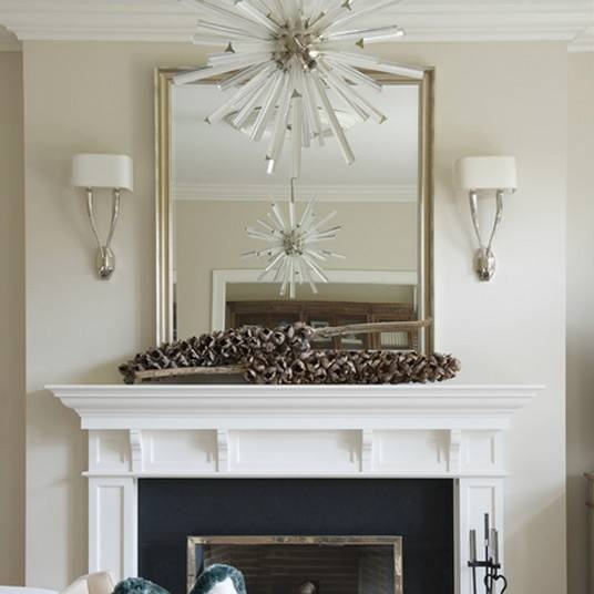 Inspiration about Custom Sized Mirror Over Fireplace Mantle Intended For Custom Sized Mirrors (#2 of 15)