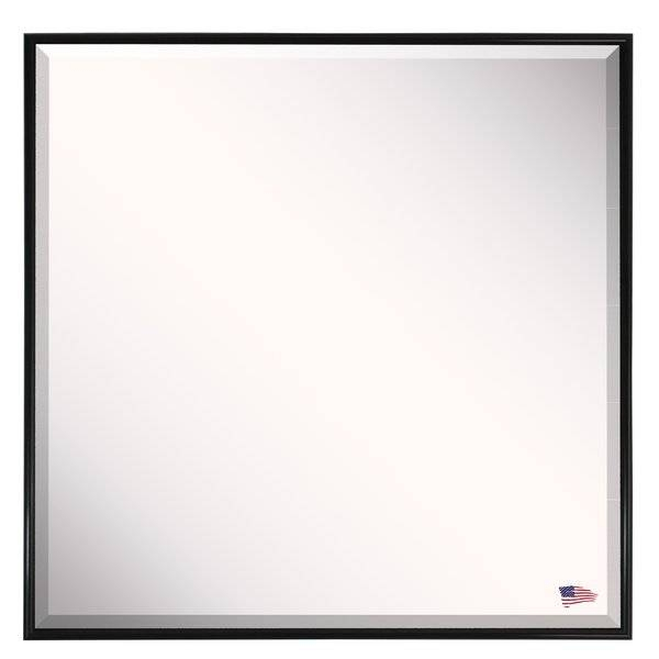 Darby Home Co Square Black Metal Square Wall Mirror & Reviews Pertaining To Black Rectangle Wall Mirrors (#8 of 15)