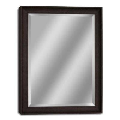 Dark Brown Wood – Bathroom Mirrors – Bath – The Home Depot With Regard To Brown Wall Mirrors (#7 of 15)