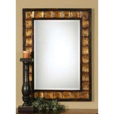 Dark Brown Wood – Mirrors – Wall Decor – The Home Depot For Brown Wall Mirrors (#8 of 15)