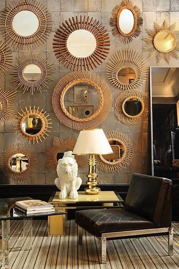Decor Sunburst Wall Mirror : Doherty House – Makes A Sunburst Wall For Mirrors Decoration On The Wall (View 8 of 15)