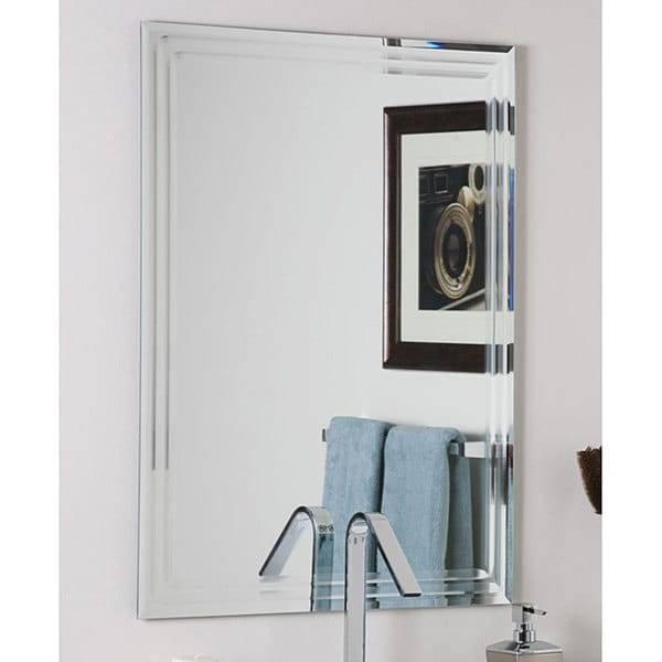 Decor Wonderlad Frameless Tri Bevel Wall Mirror – Free Shipping With Frameless Beveled Wall Mirrors (#9 of 15)