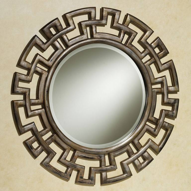 Decorations : Glamorous Chinese Style Round Wall Mirror With Black With Black Decorative Wall Mirrors (#9 of 15)