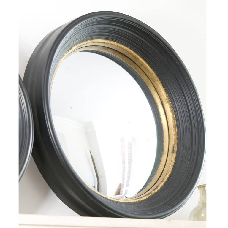 Decorations : Tasteful Round Wall Mirror Having Black Iron Frame With Decorative Black Wall Mirrors (#4 of 15)