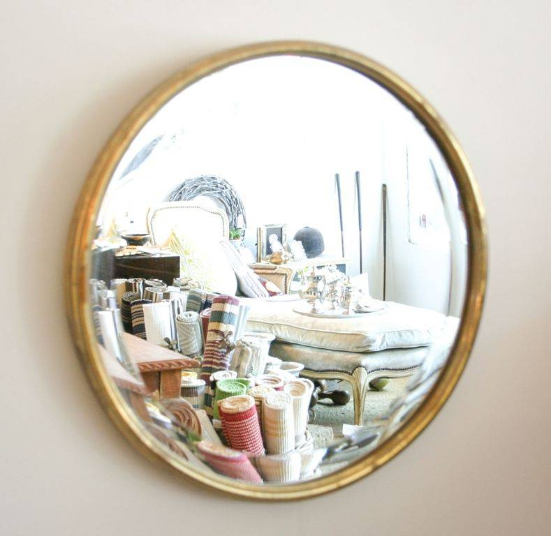 Decorations : Vintage Style Round Wall Mirror Ideas Using Golden Pertaining To Painted Wall Mirrors (#12 of 15)