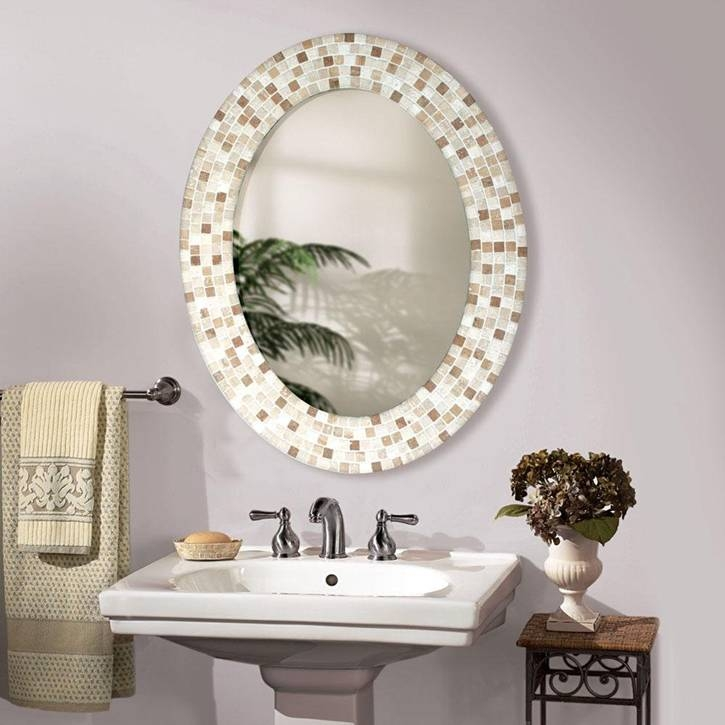 Decorative Bathroom Mirrors And Mirror Designing Tips | Hvh Interiors With Oval Bathroom Wall Mirrors (View 13 of 15)