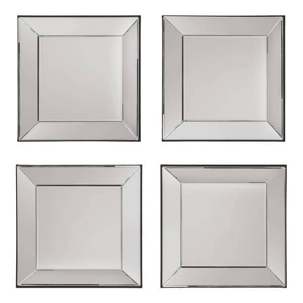 Decorative Square Wall Mirrors (Set Of 4) – Free Shipping Today Intended For Wall Mirror Sets Of (View 2 of 15)