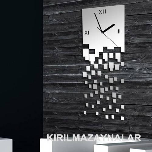 Decorative Wall Clock Modern Wall Mirror 50 Pcs Square With Decorative Contemporary Wall Mirrors (#6 of 15)