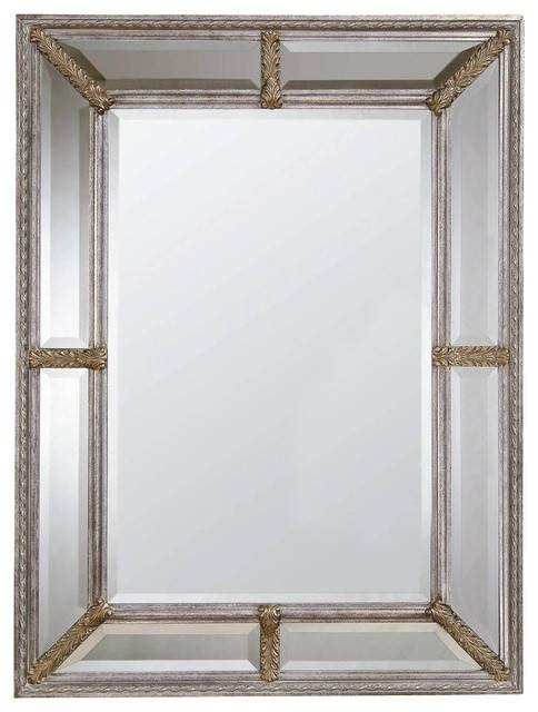 Decorative Wall Mirror In Braided Silver Leaf Colored Frame With Regard To Traditional Wall Mirrors (#7 of 15)