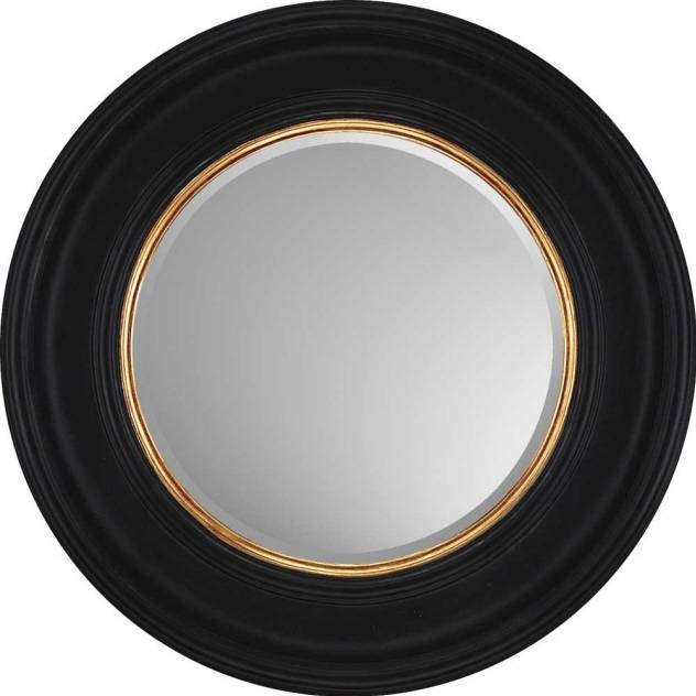 """Decorative Wall Mirrorparagon:""""round Black With Gold"""" – Mirrors For Decorative Black Wall Mirrors (#5 of 15)"""