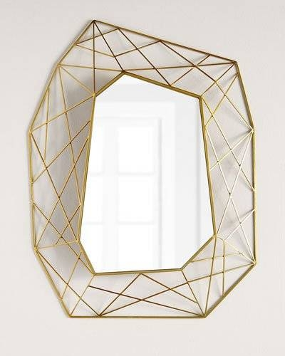Decorative Wall Mirrors & Floor Mirrors At Horchow In Geometric Wall Mirrors (#3 of 15)