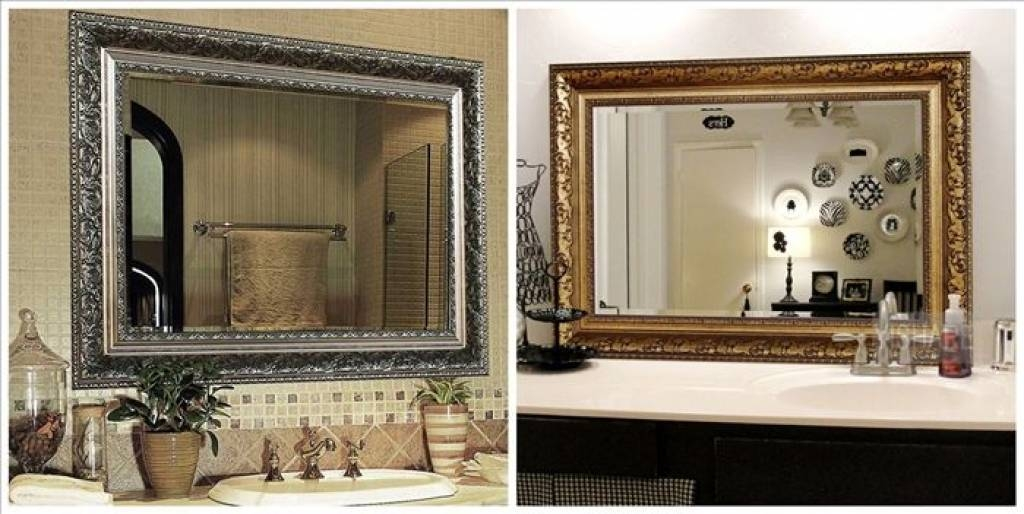 Decorative Wall Mirrors For Bathrooms Stylish Idea Decorative Pertaining To Decorative Bathroom Wall Mirrors (#9 of 15)