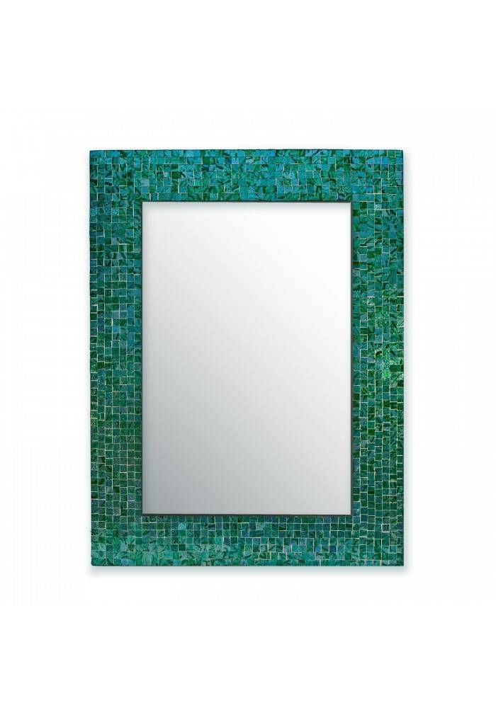 """Decorshore 24""""x18"""" Accent Rectangular Decorative Wall Mirror With Intended For Turquoise Wall Mirrors (#6 of 15)"""