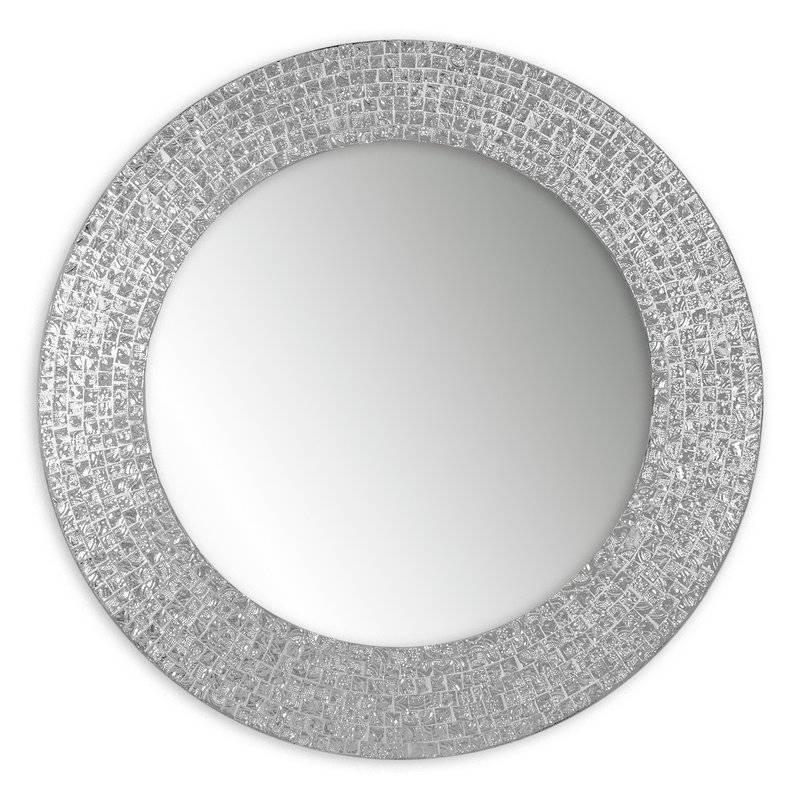 Decorshore Decorative Embossed Glass Mosaic Tile Wall Mirror For Glass Mosaic Wall Mirrors (View 9 of 15)