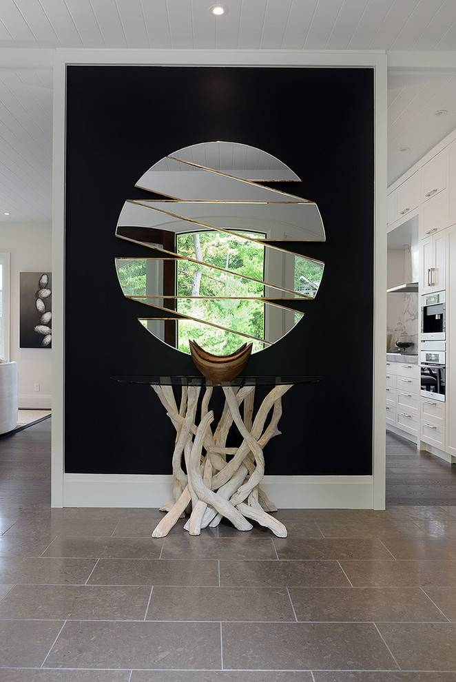 Delightful Black Wall Mirrors Decorating Ideas Gallery In Hall Within Contemporary Black Wall Mirrors (#6 of 15)