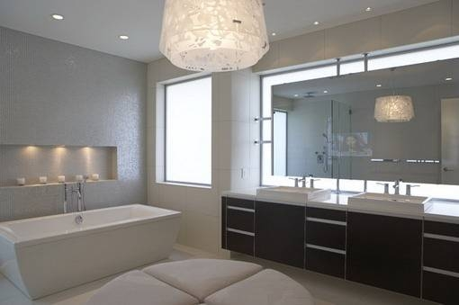 Design Amazing Bathroom Wall Mirrors Crafty Inspiration Ideas In Large Mirrors For Bathroom Walls (#6 of 15)