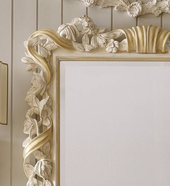 Designer Italian Wooden Rose And Ribbon Wall Mirror | Juliettes With Regard To Italian Wall Mirrors (#6 of 15)