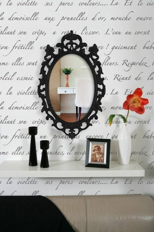 Designer Mirror – Decorating With Shiny Accessories – Fresh Design With Regard To Black Decorative Wall Mirrors (#10 of 15)