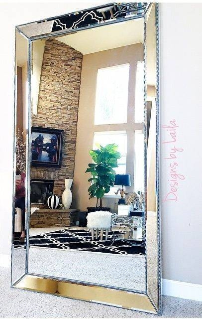 Designsbylaila Showcases Our Stunning Omni Leaner Mirror In Her Within Home Wall Mirrors (View 10 of 15)