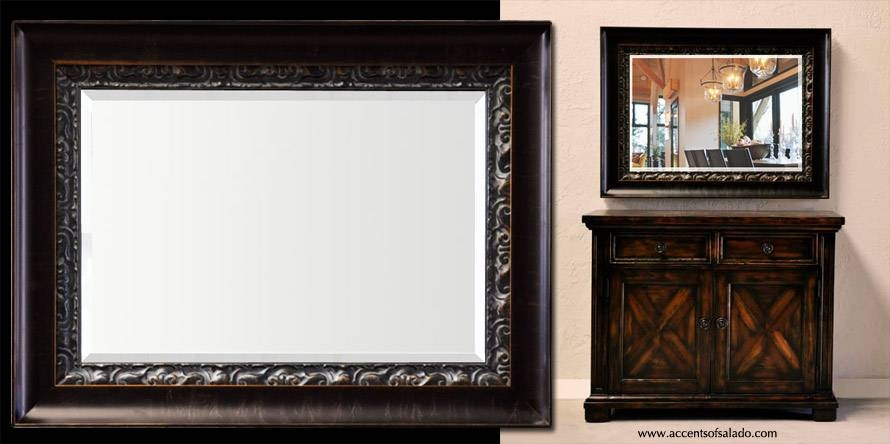 Devon Beveled Wall Mirror – Wide Decorative Frame Throughout Wide Wall Mirrors (#3 of 15)