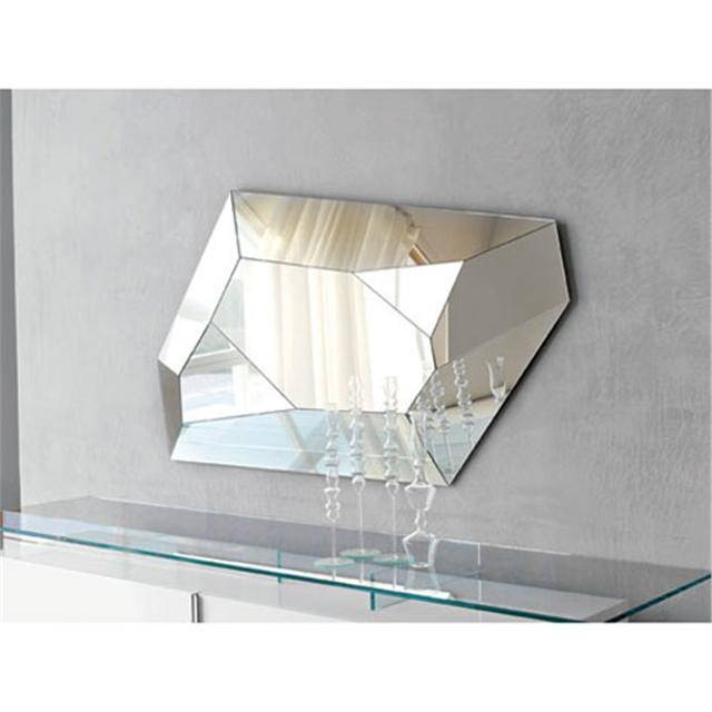 Diamond Faceted Italian Wall Mirror With Italian Wall Mirrors (#7 of 15)