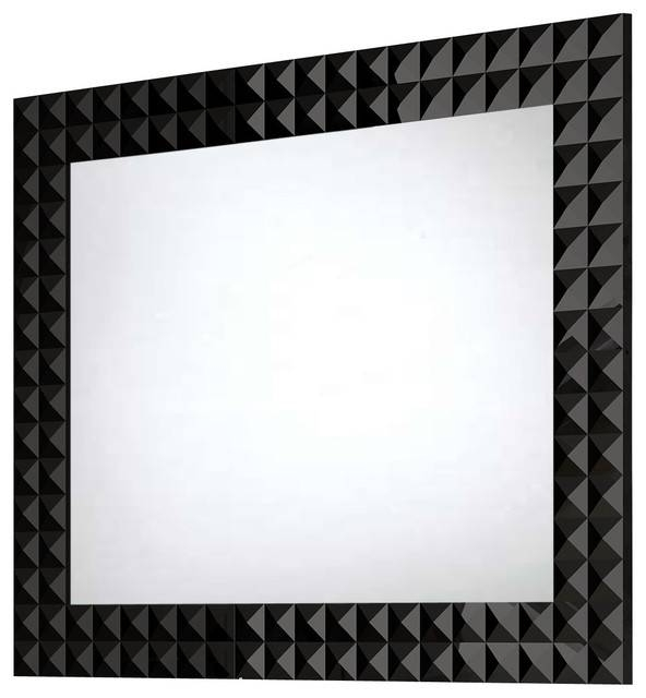 Diamond Wall Framed Mirror – Contemporary – Bathroom Mirrors – With Contemporary Black Wall Mirrors (#7 of 15)