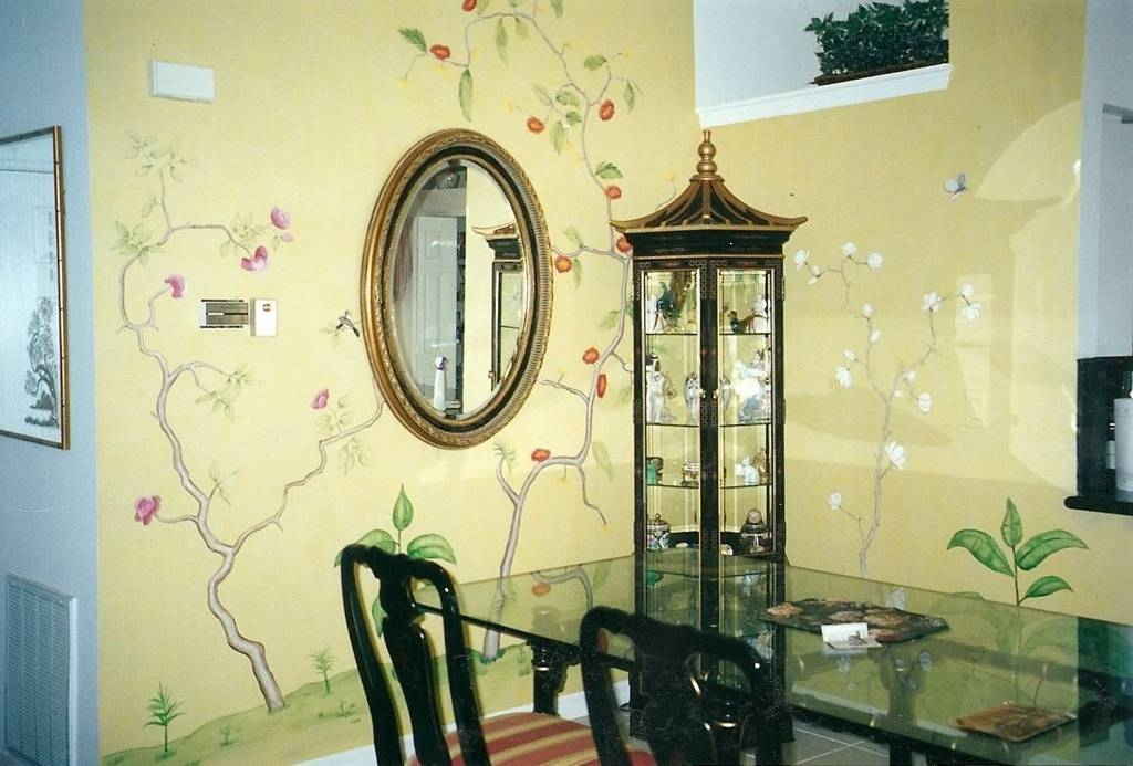 Dining Room : Cute Asian Style Dining Room Ideas With Rectangle Regarding Asian Style Wall Mirrors (#5 of 15)