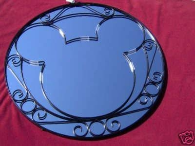 Disney Mickey Wrought Iron Wall Mirror   #29130316 Pertaining To Mickey Mouse Wall Mirrors (View 9 of 15)
