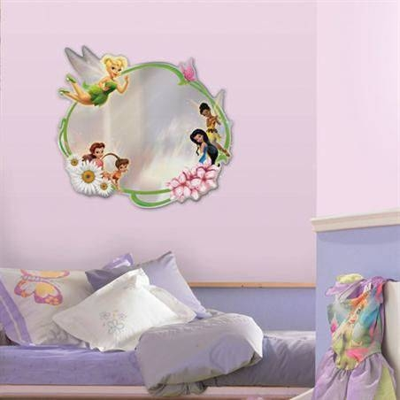 Disney Tinker Bell Fairies Peel And Stick Mirror Regarding Disney Wall Mirrors (#6 of 15)