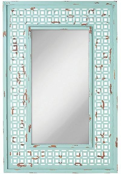 Distressed Turquoise Wall Mirror | Everything Turquoise Inside Turquoise Wall Mirrors (#8 of 15)